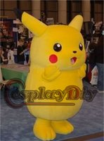 dress factory - Real Picturs of Pikachu mascot Costumes for Christmas and Halloween Party Adult Size high quality Fancy Dress factory direct sale