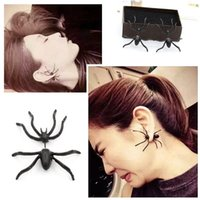 best personality - Nightclubs exaggerated oversized punk spider earrings fashion personality matte black earrings matte gold earrings best quality