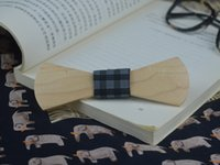 Wholesale 2016 White Maple Ties Large Arc Side Tie Knot Fashion Personality Accessory Geometric Design Solid Wooden Bow Tie For Wedding Party Event