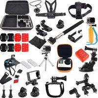 Wholesale set in GoPro Accessories Family Kit Go Pro Hero Hero Accessories Helmet Harness Chest Belt Monopod for SJ4000 Hero