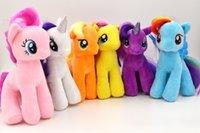 horse doll - Toy quot CM My Little Pony Plush Soft Stuffed Animals Plush Doll Toy cotton little rainbow Princess horse Colors choose