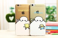 Cheap Big hero 6 baymax iphone 6plus cases Transparent Soft TPU Silicone cell phone cases 8 Styles cartoon characters 500PCS LOWEST PRICE DHL FREE