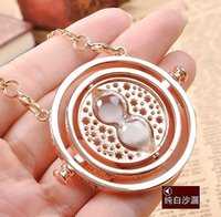 axis accessories - Men and women time axis converter hourglass sweater chain Harry potter european and american jewelry accessories pendant necklaces colors