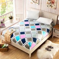 Wholesale Home Textile Bedding Cartoon Mattress Cover Bed Cover Fitted Sheet Elastic Colors ZD014
