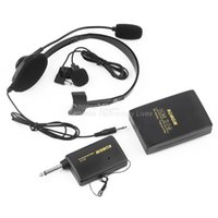 Wholesale VHF Stage Wireless Lavalier Lapel Headset Microphone System Mic FM Transmitter