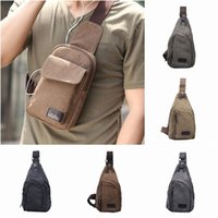Wholesale Men Canvas Chest Package Korea Style Casual Shoulder Messenger Bags Outdoor Sports Travel Bag Style Choose GOT