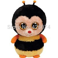big bumble bee - New Original TY Beanie Boos Big Eyed Stuffed Animals Sting the Bumble Bee Plush Toys For Children Gifts Kids Toys CM