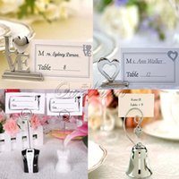 Wholesale 6 Styles Table Clamp Place holder For Wedding Banquet Party Christmas Decorations Table Numbers Card