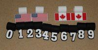 bead wholesalers canada - 2015 US flag pendant Number Pendant for Baseball Softball Necklace canada flag pendant