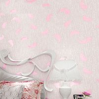 Wholesale Modern Simple Stripe Silk Texture D Embossed Non woven Wallpaper Feather Mural Wall Paper For Bedroom Clothing Store Backdrop