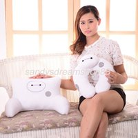 airplane seat cushions - Hot New BIG HERO BAYMAX ROBOT U Shaped Neck Pillow Massager For Traveling Airplane Chair Car Seat Cushion