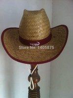 natural straw hat - Natural Palmleaf Straw Cowboy Hat Promotional Straw hat