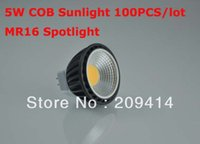 Wholesale freeshipping LED spotlight W COB Bulbs MR16 base DC12V degree with glass cover tiggou2