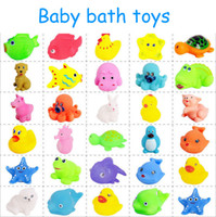 Wholesale Baby Favorite Animal Cartoon octopus Swimming Toy Rabbit duck pig starfish will sound baby bath toy