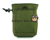 Wholesale 2PCS New Style D Nylon Molle Magazine Drop Pouch Tactical Mini Collection Hunting Bags Colors order lt no track