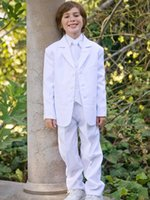 Wholesale The baby party small male baby lovely flower wedding dress313 Jacket Pants Vest Bowtie kids tuxedo suit wedding kids boy suits