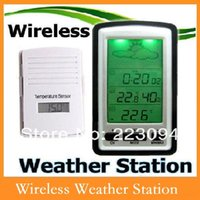 Cheap High quality Wireless Weather Station Barometer Clock Wireless Sensor Temperature Alarm With Indoor Outdoor Temperature And Humidity