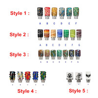 Wholesale 510 Drip Tips Skull Scorpion Spider Color Pattern Colorful Mouthpiece for E Cigarette E Cig Rebuildable Atomizer Various Styles DHL Free