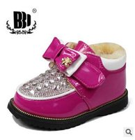 Wholesale best selling new Autumn Winter New Style Children Leather Shoes Non slip Child Keep Warm Velcro Cotton Kids Girl Boots pair