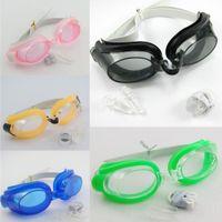 Wholesale Swimming Goggles Swim Glasses Water Sportswear Anti Fog Uv protected with earplug Nose Clip
