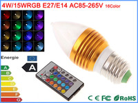 120v led light bulb - 85 V V V V W w E27 RGB Led Lamp Multi Color Change LED candle Light Bulb with Remote Control