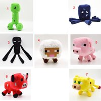animal sheep - Creeper Squid Enderman Plush Toys Sheep Pig Mushroom Cow Ocelot Cat My World MC Stuffed Animals Dolls Kid Boys Christmas Birthday Gifts
