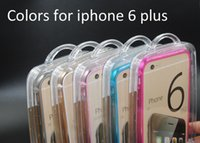 Wholesale 2015 Hot Selling Hybrid TPU PC Case Hard Plastic Matte Cases for Iphone Plus Candy Color