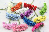 artificial candy - 1 CM Artificial Mini Mulberry Paper Roses DIY crafts Decoration accessories for wedding Candy box garland Hair scrapbooking
