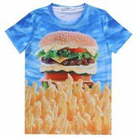 beef french - w1218 Amy Beef Hamburger French fries Europe and America Popular d t shirt women men short sleeve print casual t shirt LY310