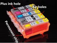 Wholesale 5 refillable ink cartridge with chip PGI CLI for canon PIXMA iP4280 MG5220 MG5120 IP4820 MG MG6120 MG6220 MG8220 MG5320