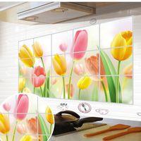 ceramic wall tile - Kitchen tile decoration wall stickers adhesives wallpaper porcelain glazed ceramic tile