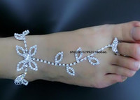 Jewelry Sets anklet designs - Beautiful Beach Bridal Accessories New Design Bohemian Brides Anklets Leaves Shape Crystals Rhinestones Handmade Wedding Jewelry