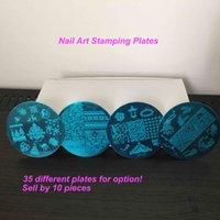 Wholesale 10Pcs Nail Art Stamping Plates Nail Polish Image Printing Templates