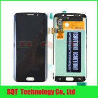 Wholesale Best Quality lcd assembly with digitizer for Samsung S6 G925A edge lcd display assembly for replacement white Black