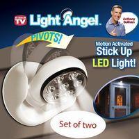 Wholesale 2Set Motion Activated Cordless Sensor Light Degree Rotable Led Infrared Sensor Lamp Small Night Light Wall Lamp Bed light