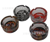 Wholesale new Skull creative household glass ashtray graceful simple type color and style random delivery
