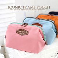 nylon cosmetic bag - Multifunctional Beautician Neatly Collect Storage Handbags Metal Frame Nylon Cosmetic Bags Napkin Bags Gadgets Organizer dandys