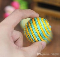 ball teaser - Pets Dogs Cats Kitten Teaser Playing Chew Rattling Cats Toys Rope Balla Cute high quality Sisal Balls