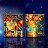 Wholesale Diamond Painting Round Rhinestone Cross Stitch Kit D DIY Diamond Embroidery Scenic Impressionist for Home Decoration