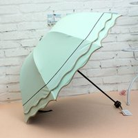 Wholesale Waves edge Mushroom umbrella sunscreen sun princess umbrella dual use folding anti ultralight UV folding umbrella rain apollo umbrellas