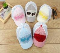 Wholesale New Arrival Colors Popular Lovely Design Plaid Hollowed Hat Soft Kids Girls Boys Cap Summer Style sunhat Hip Hop