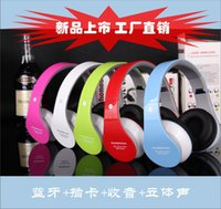 Wholesale New supply headset Bluetooth headset plug in stereo FM MP3 Player with call answer