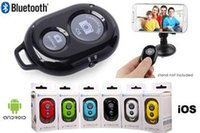 Wholesale 100 Universal Selfie Bluetooth Remote Shutter wireless Camera Control Self timer Shutter for iPhone s samsung Android phones