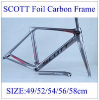 bike racing bicycle - 2015 New arrive carbon road bike frame Scott Foil for pro Carbon Bike frames Scott Aerodynamic bicycle Frameset PROLOGO TOPEAK racing bikes