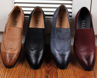 Wholesale Men s Cut Outs leather shoes fashion leisure business wedding groom shoes