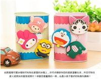 Wholesale 50pcs cute Fridge Magnets cup nagnet three dimensional cartoon creative strength magnet magnetic stickers affixed refriger small nagnets