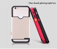 Wholesale 2015 Nillkin One hand Photographic Back Case For iPhone Camera Anti skid TPU PC Hybrid Self Take Photo Shield Show Smart Cover For iphone6