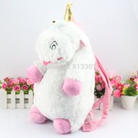 Wholesale Despicable Me Unicorn Backpack Despicable Me unicorn bag plush unicorns toy backpack toys for girls kids birthday gift Retail