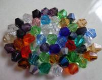 Precio de Mixed crystal beads-Caliente ! El color de la mezcla talló los granos flojos DIY de los granos 4m m / 6m m de los granos de Bicone del swarovski