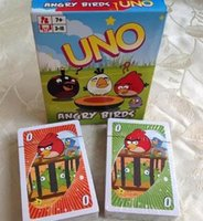 Wholesale Bird cartoon version games within with instructions in English style and more optional New uno playing cards poker set Paper